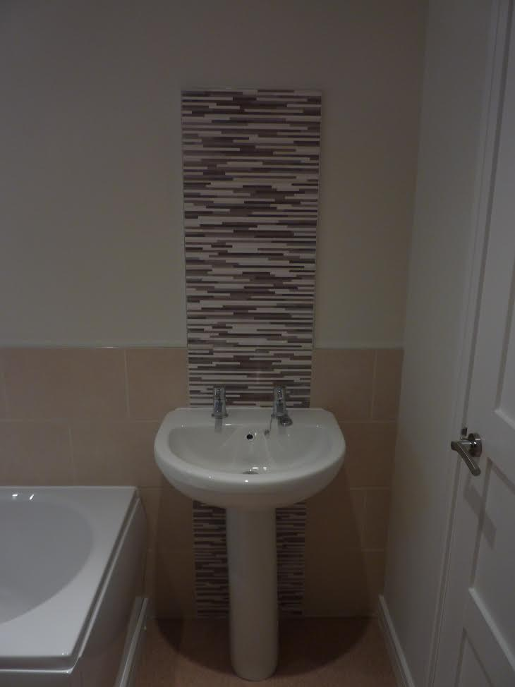Family Bathroom With Feature Tiles